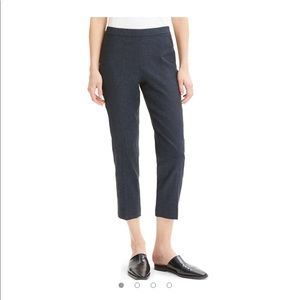 Theory Pull on Wool Blend Ankle Pants Trouser